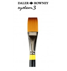 Pincel System3 Espatulado Pêlo Sintético Cabo curto